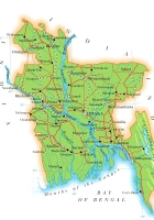 Map of Bangladesh Map Region