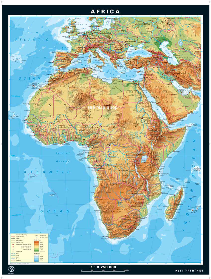 Eastern Africa Map Eastern Africa Physical Map