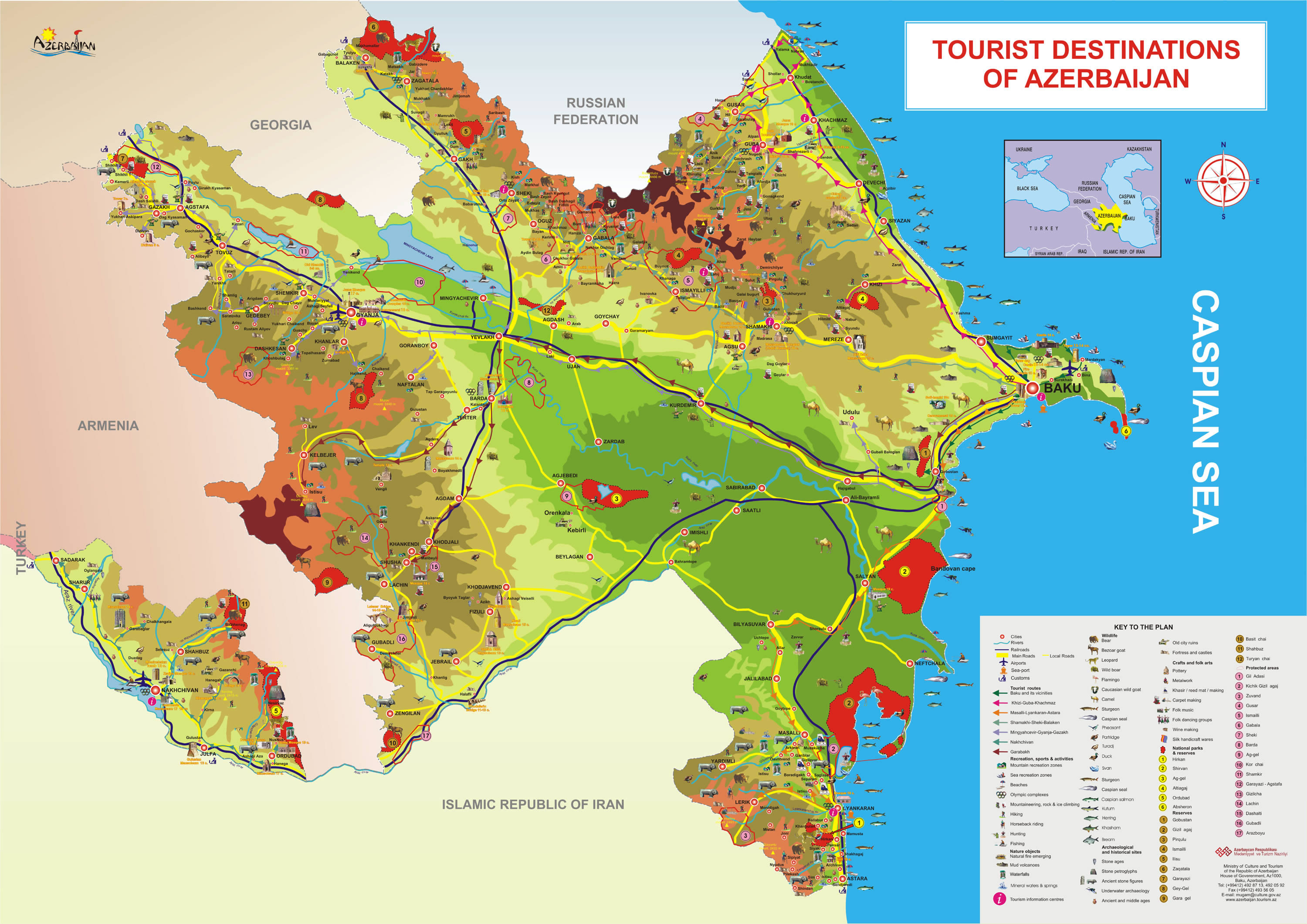 Azerbaijan-Tourist-Map