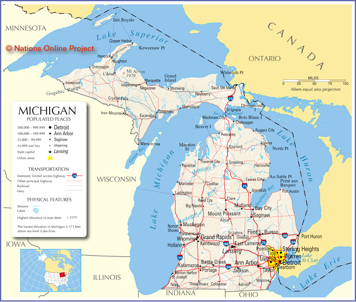 Map Of Michigan America Maps Map Pictures - Map of michigan counties and cities