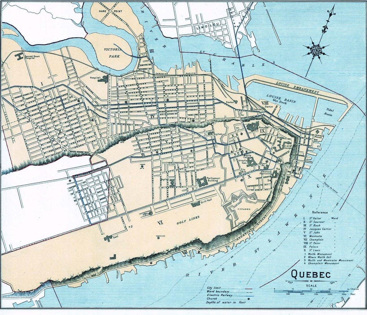 map of québec city