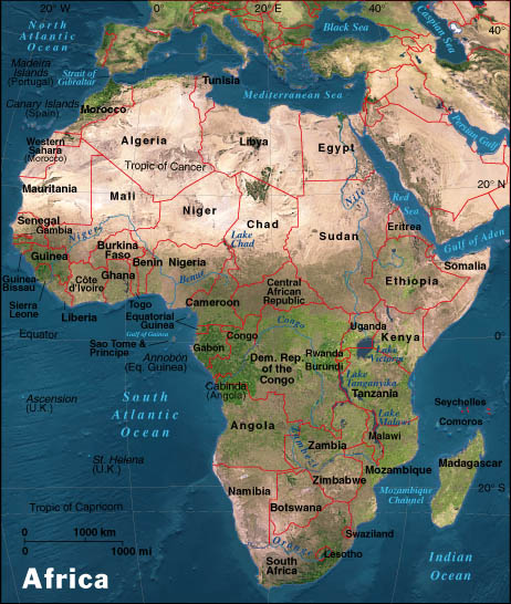 physical map of africa Africa Maps Map Pictures