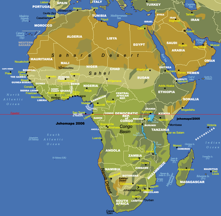 Physical Map Of Africa Maps Pictures