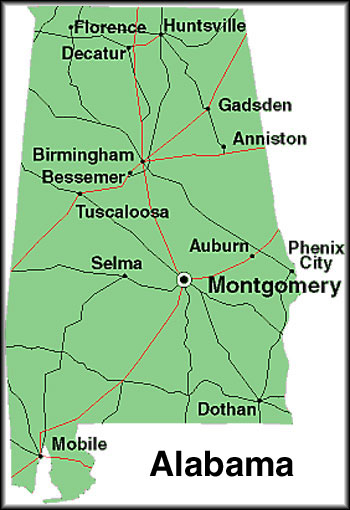 Map Of Alabama Map Of Alabama Counties Wpmapmorg - State of alabama map with cities