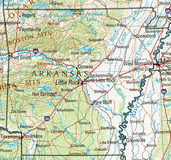 State Parks In Arkansas Map.Map Of Arkansas Google Map Of Arkansas Road Map Of Arkansas
