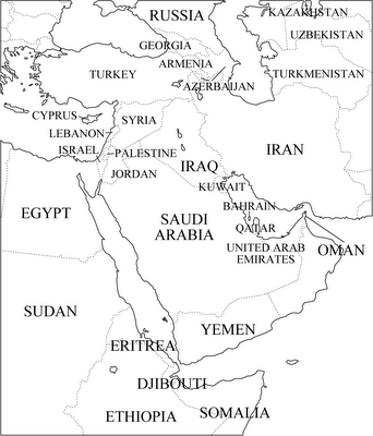 Printable Map Middle East | My Blog