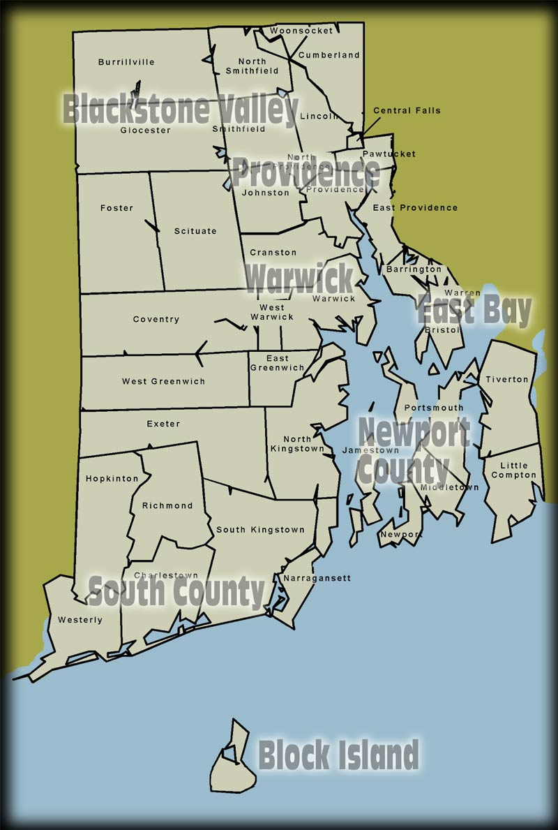 map of rhode island America Maps Map Pictures