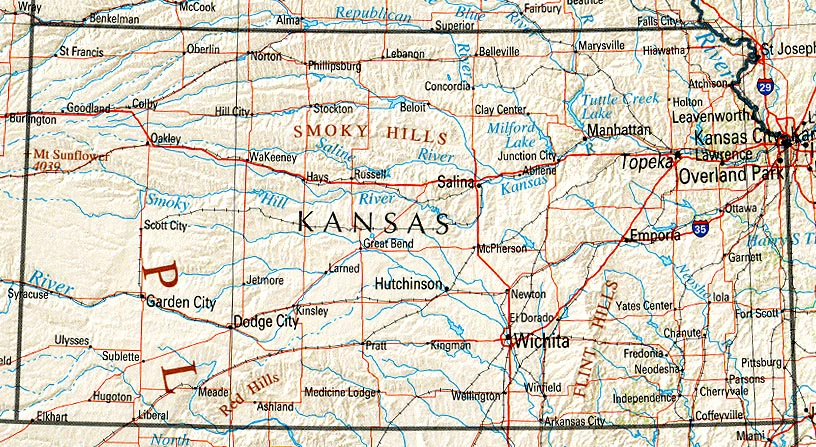 Map Of Kansas America Maps Map Pictures