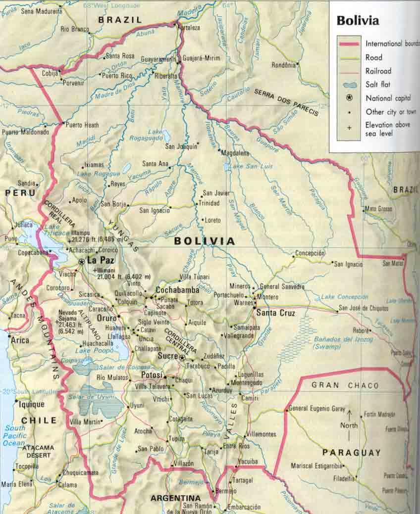 Bolivia Map Bolivia Map World Boli Map Cities Wpmaporg - Bolivia map