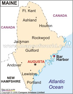 Map Of Maine America Maps Map Pictures - Maine cities map