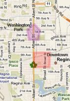 Map of regina Map of regina area Map of regina city wpmaporg