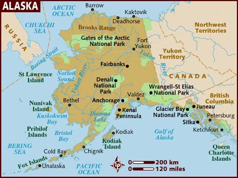 map of alaska - America Maps - Map Pictures - satellite images