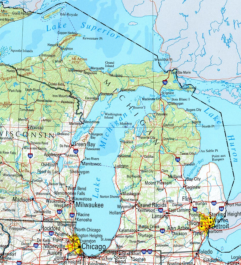Map Of Michigan - America Maps - Map Pictures