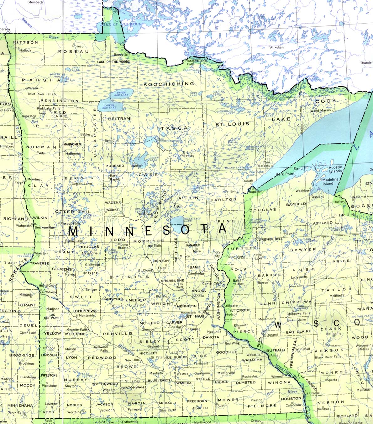 It is a picture of Adaptable Minnesota County Map Printable