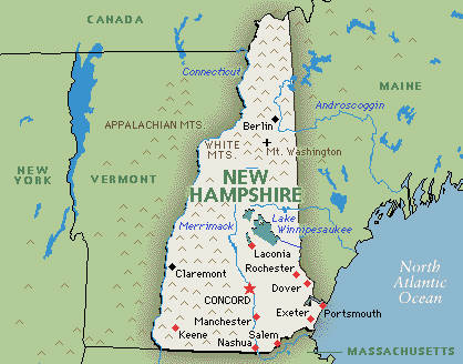map of new hampshire America Maps Map Pictures