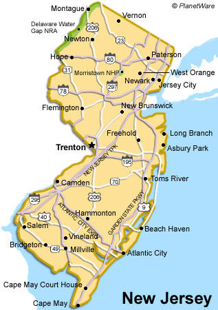 Map Of New Jersey America Maps Map Pictures - Map of new jersey and new york