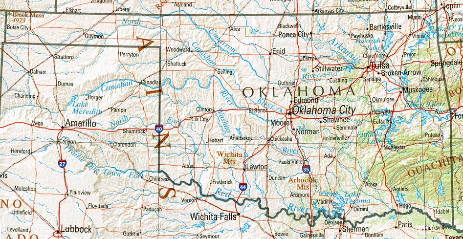 Map Of Oklahoma America Maps Map Pictures - Detailed map of oklahoma