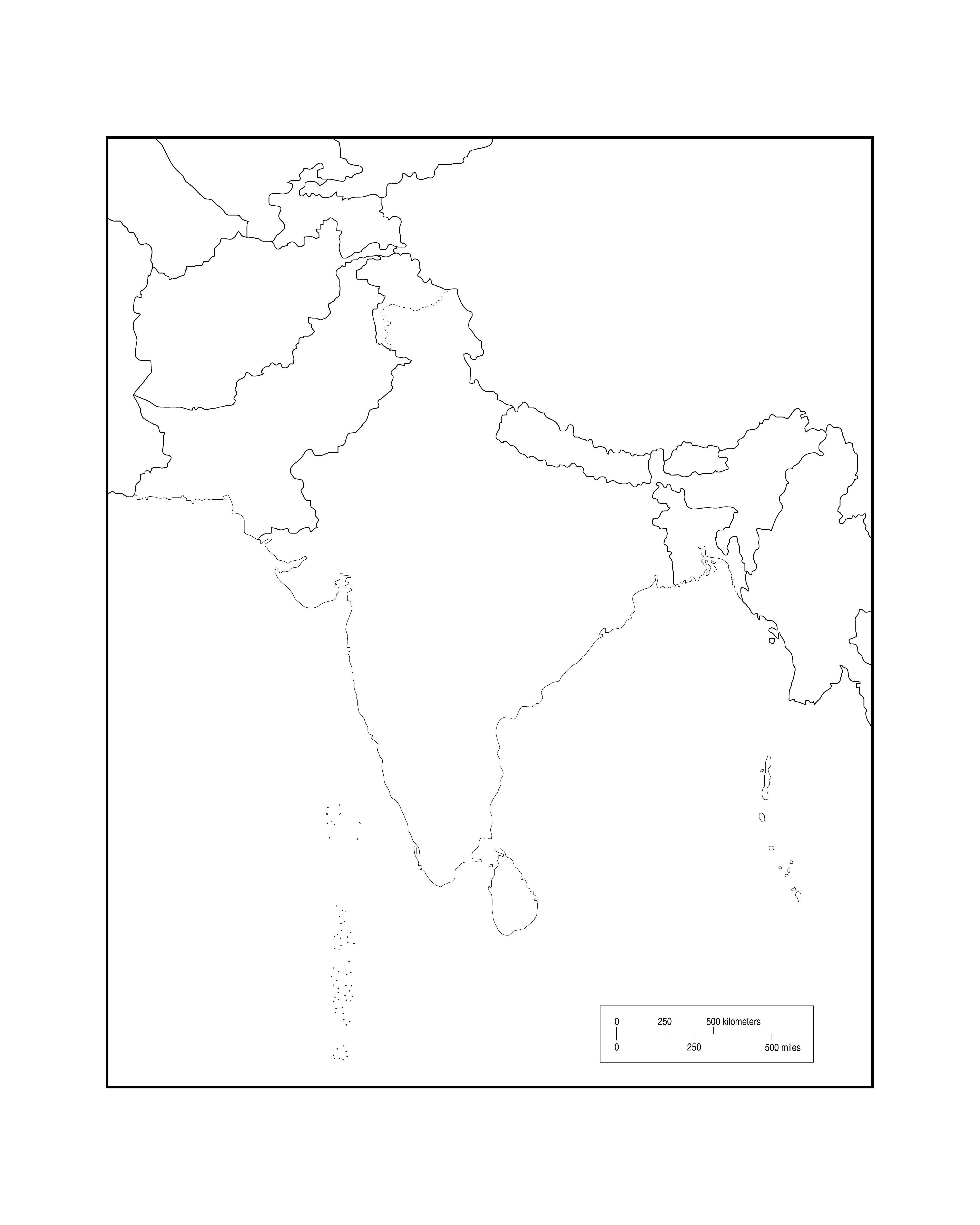 south asia map outline asia maps map pictures