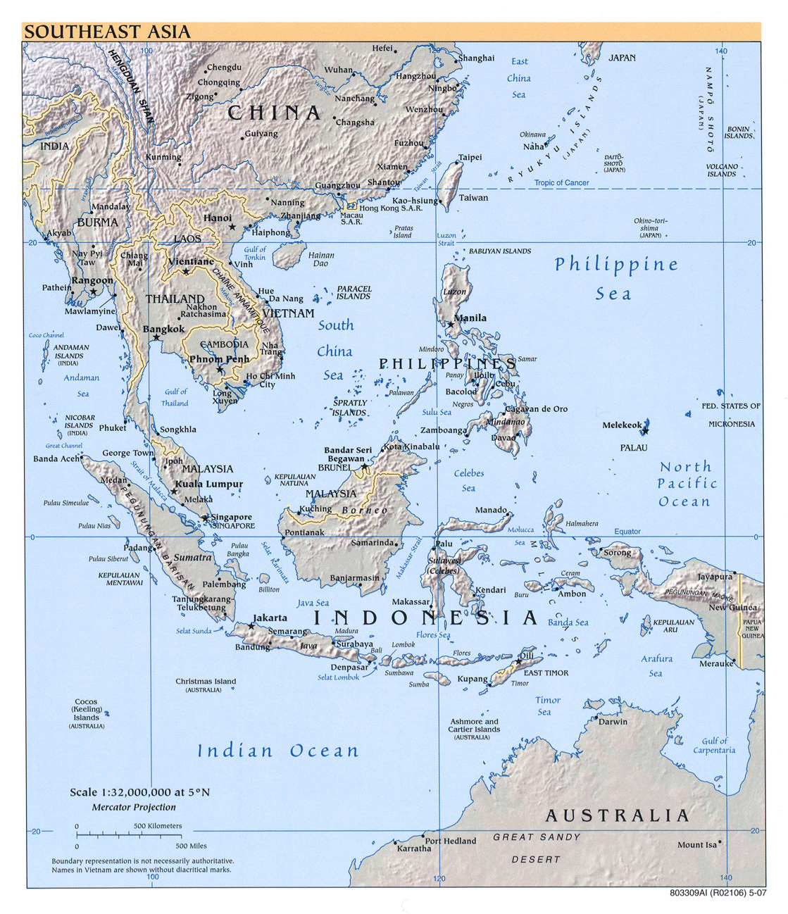 Blank Map Of East Asia And Oceania South asia maps south asia,