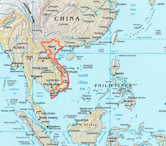vietnam asia - Map Pictures
