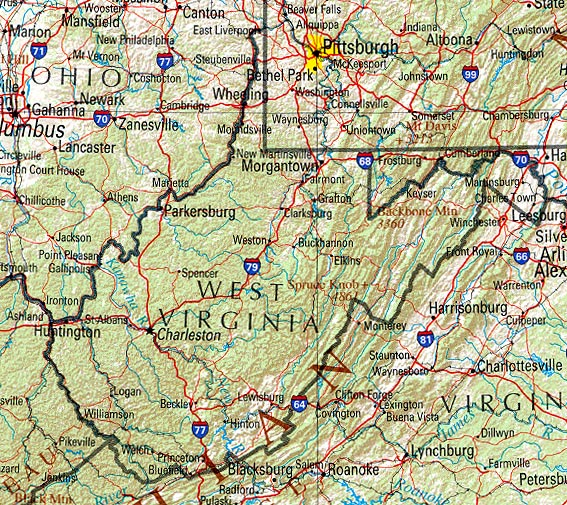 Map Of West Virginia Photos  Map Pictures