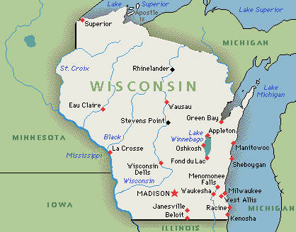 map of wisconsin - America Maps - Map Pictures