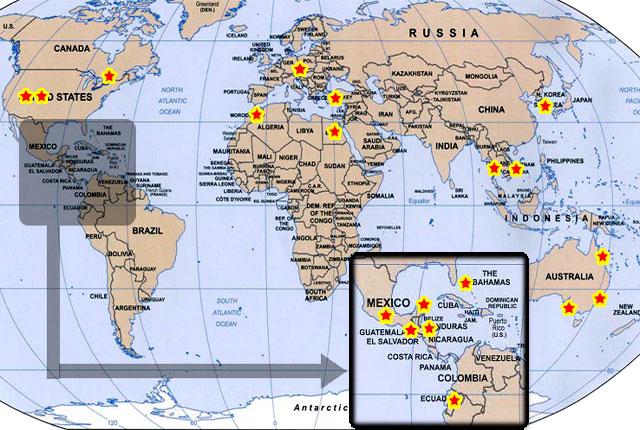 Guatemala on the world map 28 images guatemala on world map guatemala publicscrutiny Choice Image