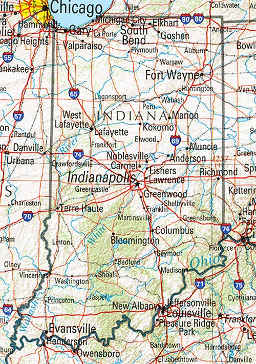 Map Of Indiana America Maps Map Pictures - Indiana road map with cities
