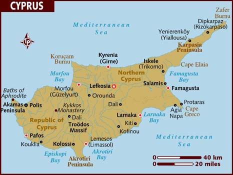 Cyprus Map Middle East Maps Map Pictures