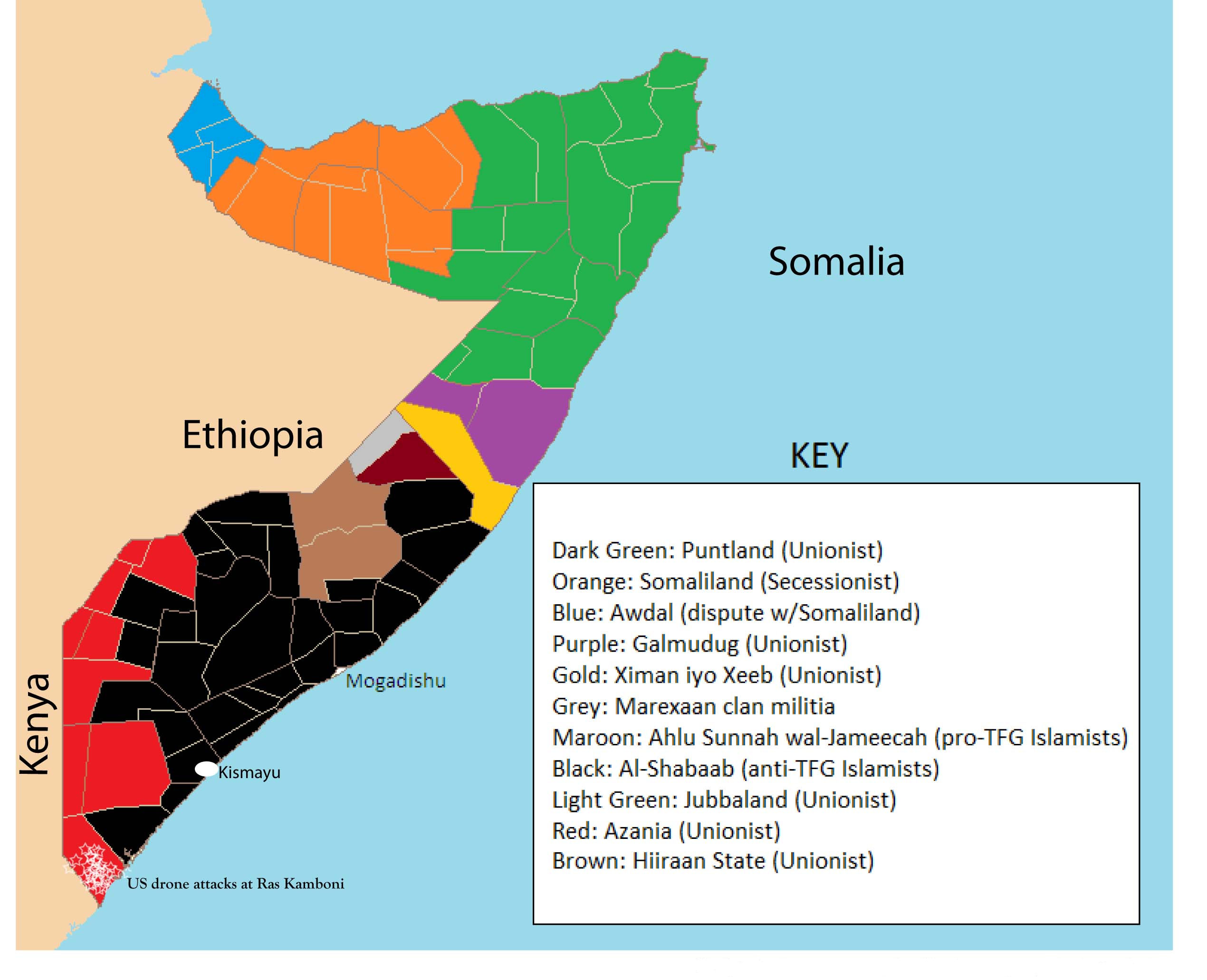somali map - middle east maps