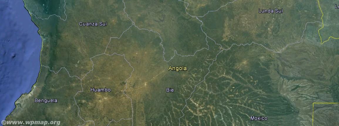 satellite map of angola