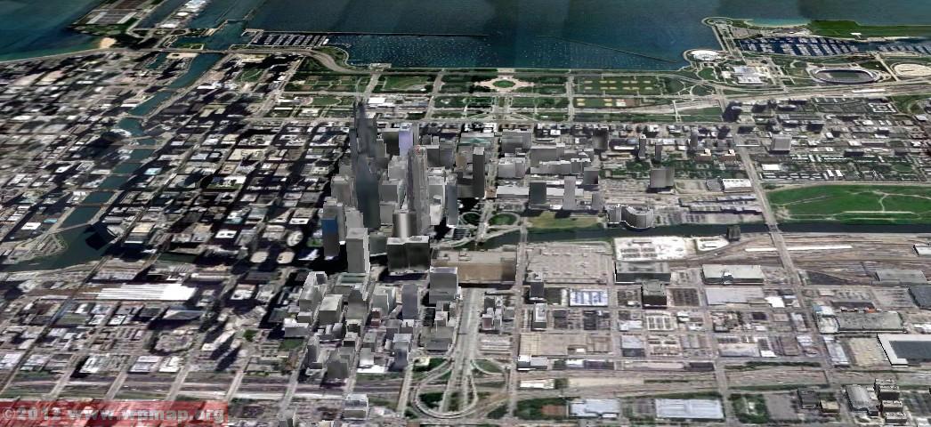satellite map of chicago