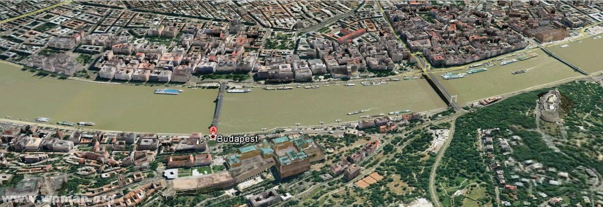 satellite map of budapest