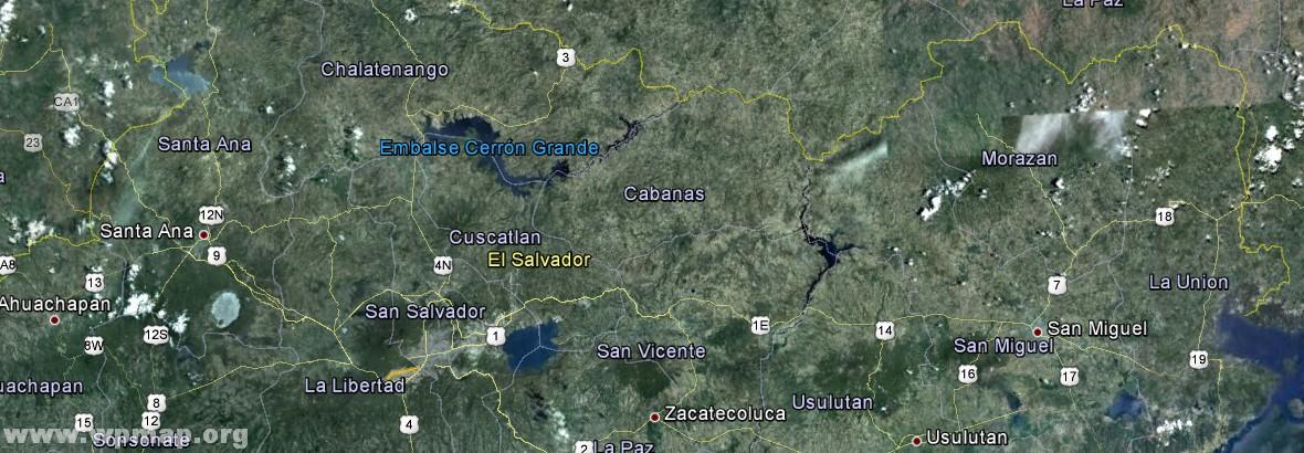 Satellite Map Of El Salvador Satellite Images Map Pictures - Satellite image photo of el salvador