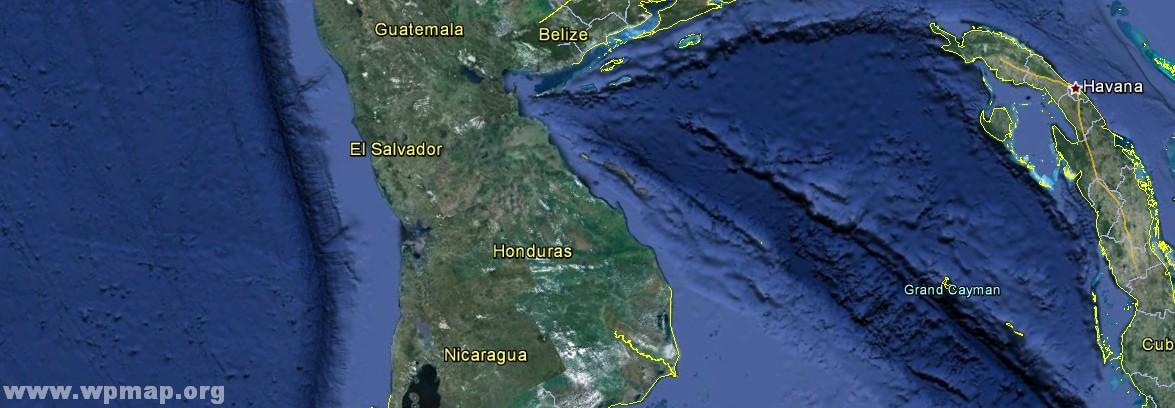 satellite map of el salvador
