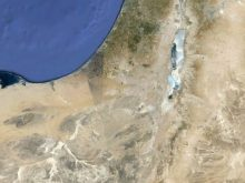 satellite map of israel4
