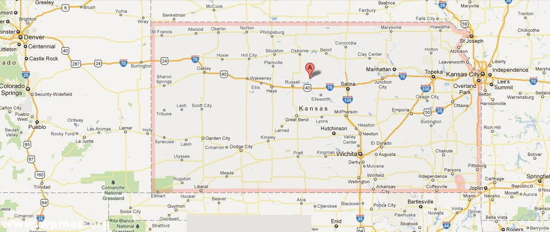 Satellite Map Of Kansas Images Pictures: Colorado And Kansas County Map At Usa Maps