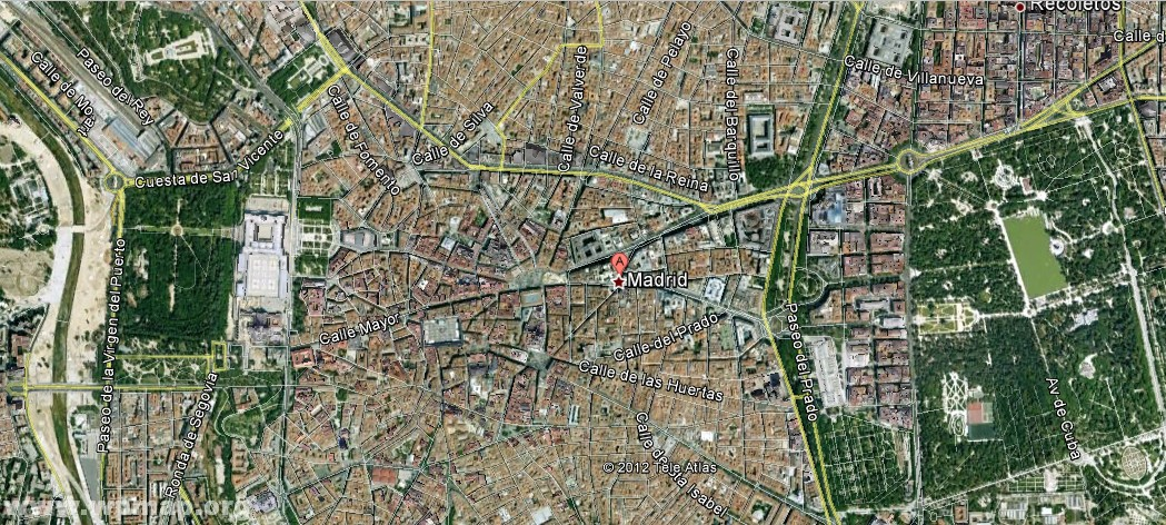 satellite map of madrid