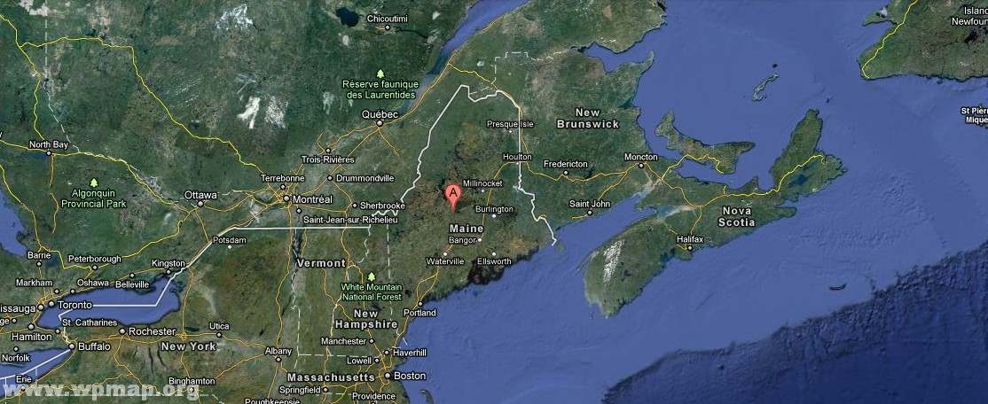 satellite-map-of-maine4 - Map Pictures