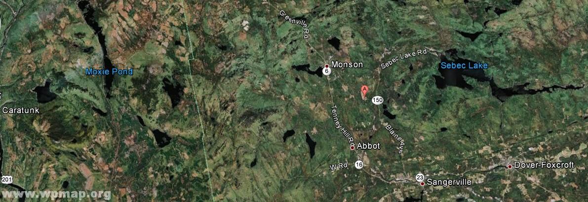 satellite map of maine