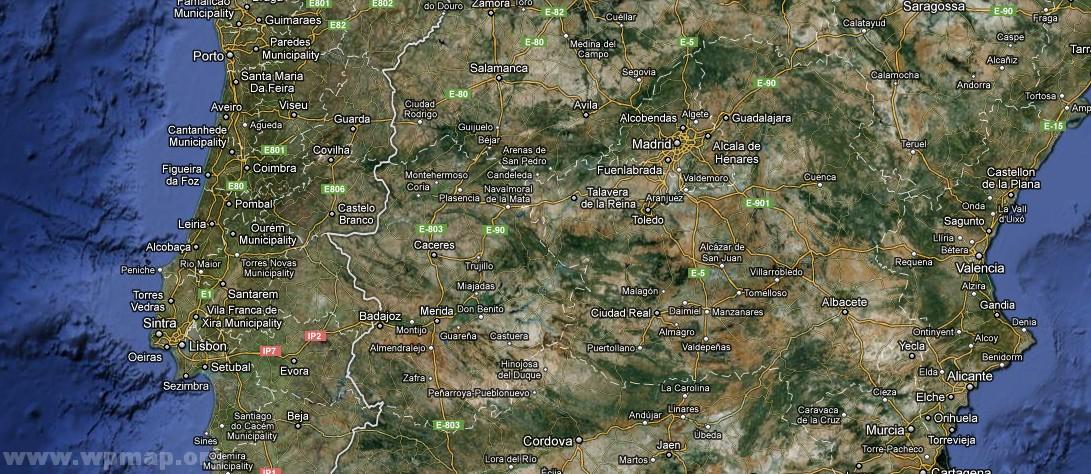 Satellite Map Of Portugal Satellite Images Map Pictures - Portugal map satellite