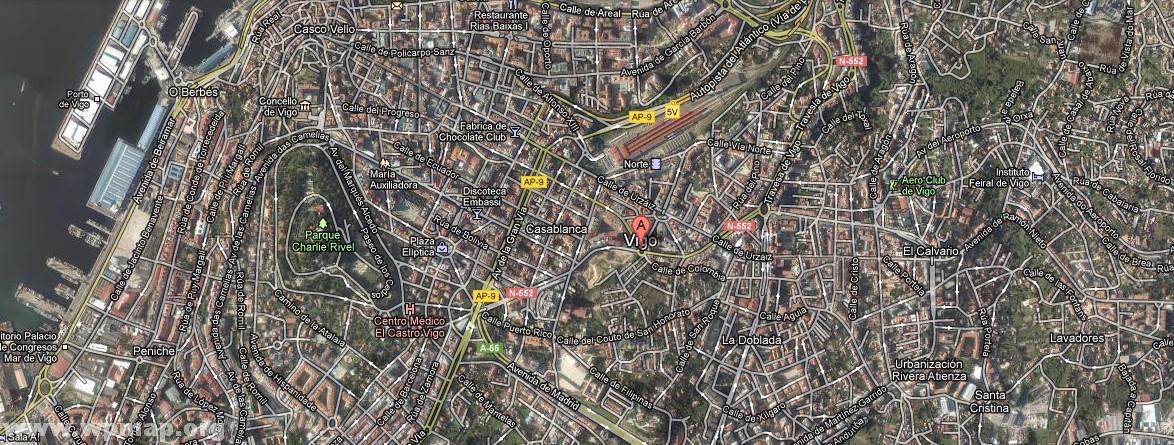 satellite map of vigo