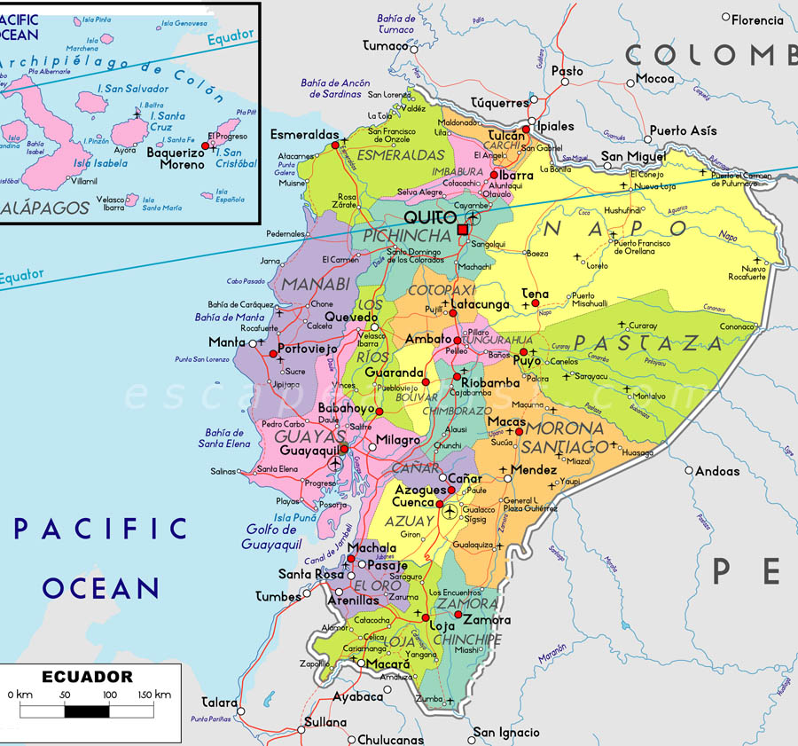 Map Of Ecuador South America Maps Map Pictures - Map of ecuador world