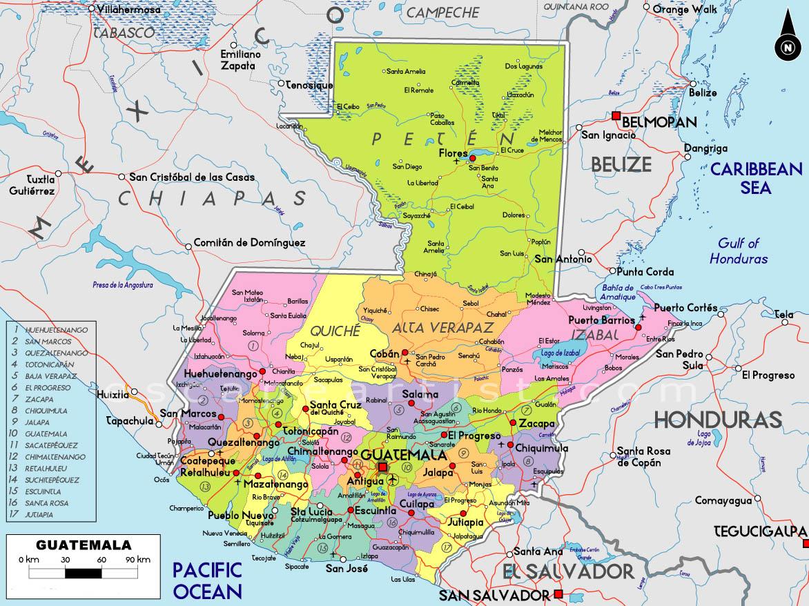 Map Of Guatemala South America Maps Map Pictures - Guatamala map