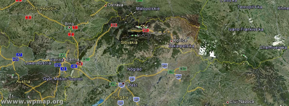 slowenien slowakei karte
