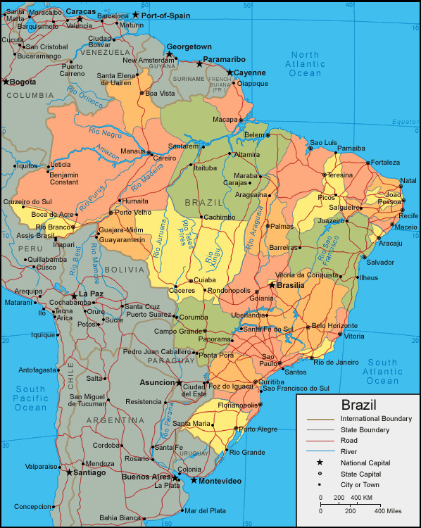 map of brazil images - Map Pictures