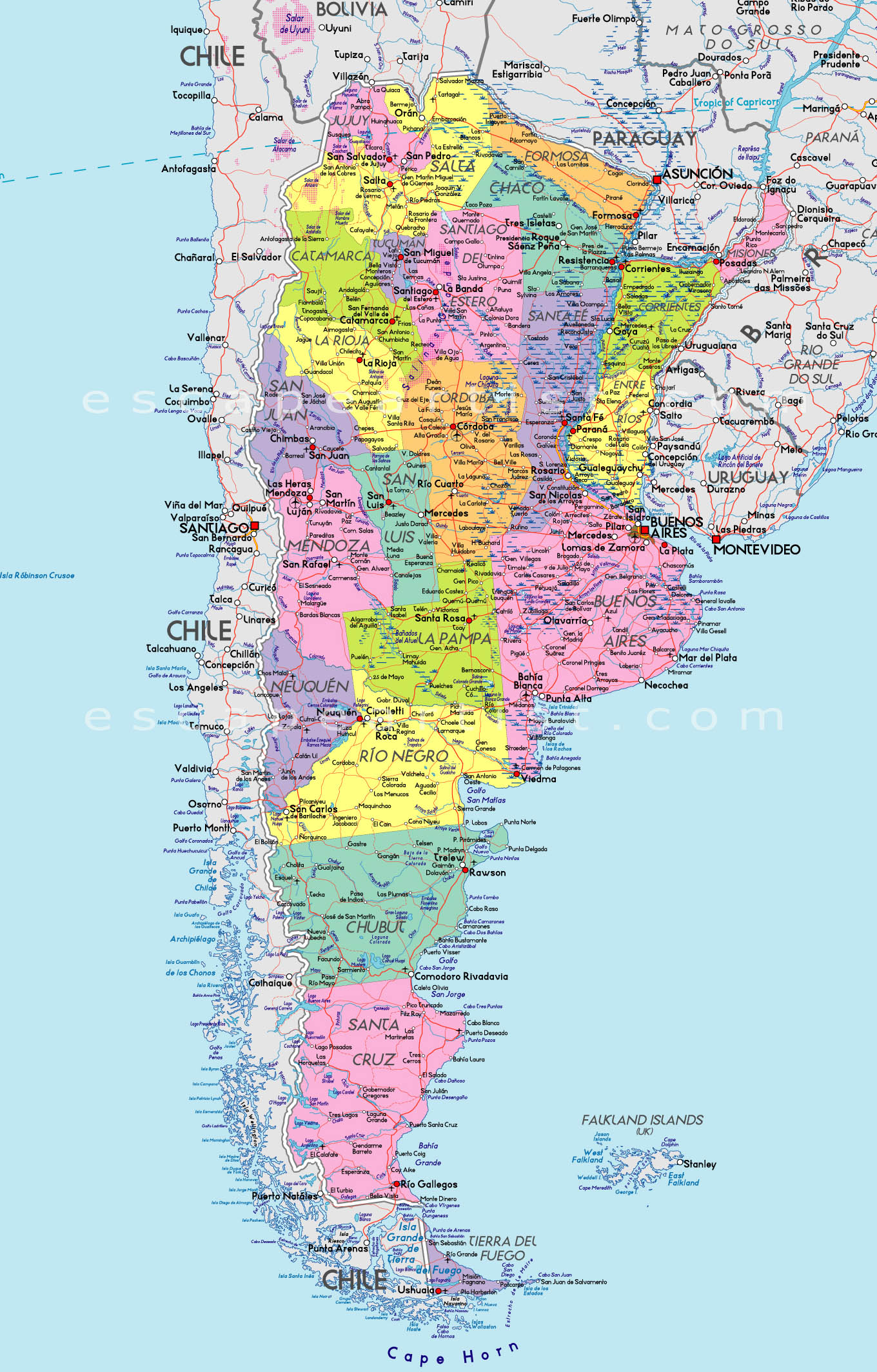 Map Of Argentina South America Maps Map Pictures - Argentina map