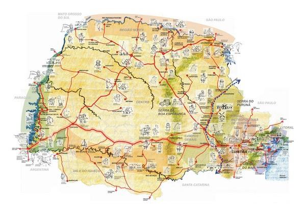 parana brazil map