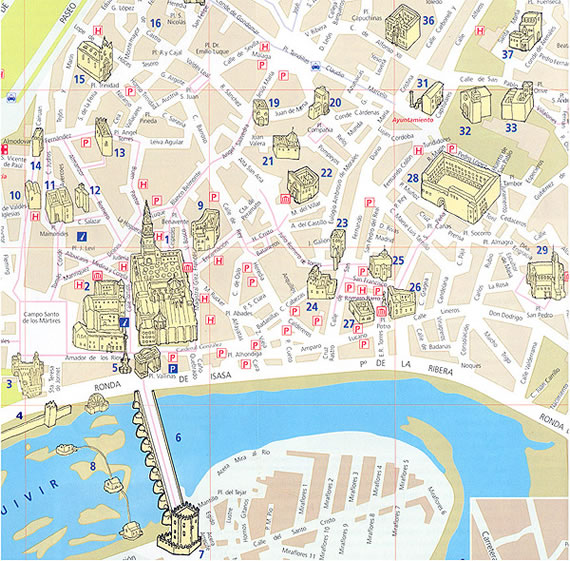 Cordoba Toledo Spain Map Related Keywords and Suggestions Cordoba – Tourist Map Of Cordoba Spain
