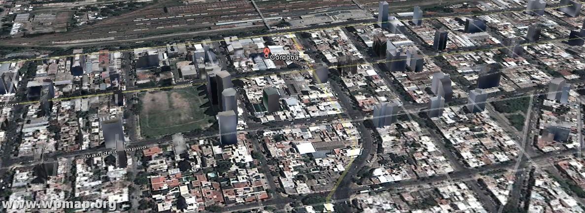 satellite map of cordoba